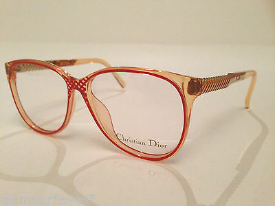 VINTAGE DIOR EyeGlasses GLASSES 2334 Rose Gold Optical Frame Cat Eye OPTYL AUTH