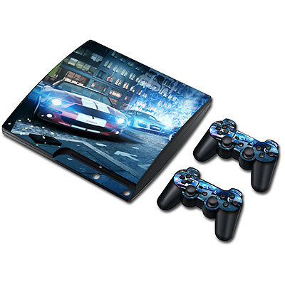 Skin Sticker Vinyl Decal Cover For PS3 PlayStation 3 Slim+2 Controllers TNS289