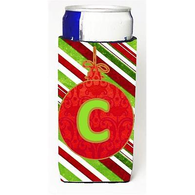 Christmas Ornament Holiday Monogram Initial Letter C Michelob Ultra s For Sli...