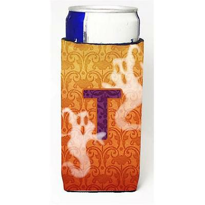Halloween Ghosts Monogram Initial Letter T Michelob Ultra s For Slim Cans