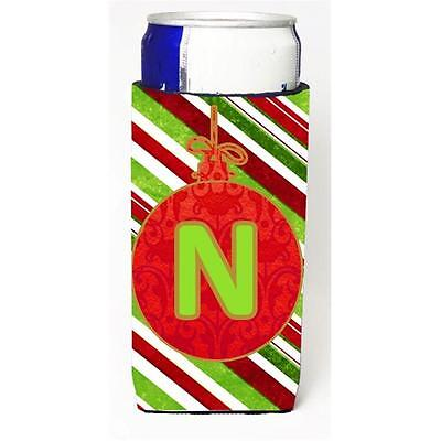 Christmas Ornament Holiday Monogram Initial Letter N Michelob Ultra s For Sli...