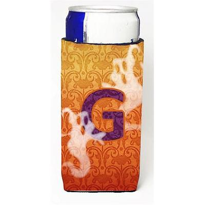 Halloween Ghosts Monogram Initial Letter G Michelob Ultra s For Slim Cans