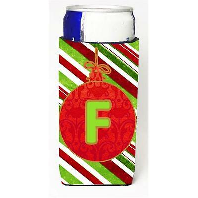 Christmas Ornament Holiday Monogram Initial Letter F Michelob Ultra s For Sli...