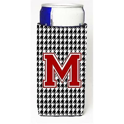Carolines Treasures Houndstooth Letter M Michelob Ultra s For Slim Cans