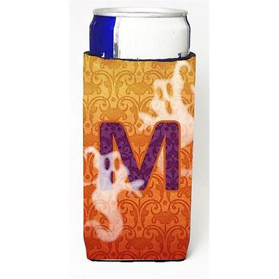 Halloween Ghosts Monogram Initial Letter M Michelob Ultra s For Slim Cans