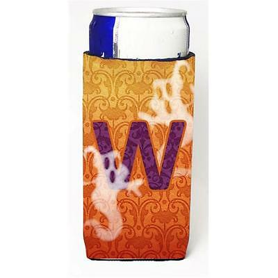 Halloween Ghosts Monogram Initial Letter W Michelob Ultra s For Slim Cans
