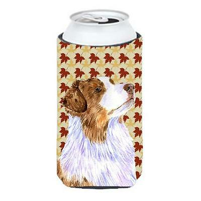 Carolines Treasures Australian Shepherd Fall Leaves Portrait Tall Boy Hugger