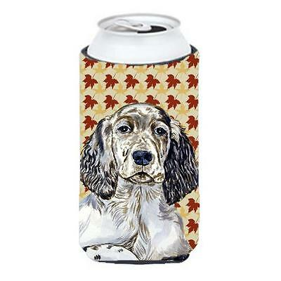 Carolines Treasures English Setter Fall Leaves Portrait Tall Boy Hugger