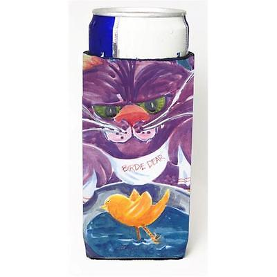 Carolines Treasures Purple Cat Birdie Dear Michelob Ultra s for slim cans