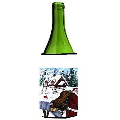 Carolines Treasures Santa Claus Delivering Packages Wine Bottle Hugger 24 oz.