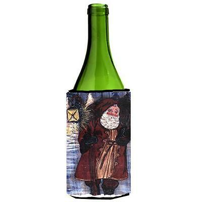 Carolines Treasures Santa Claus With Lantern Wine Bottle Hugger 24 oz.
