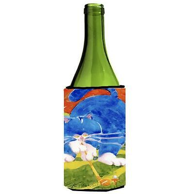 Carolines Treasures 6011LITERK Big Blue the Cat Golfer Wine Bottle Hugger