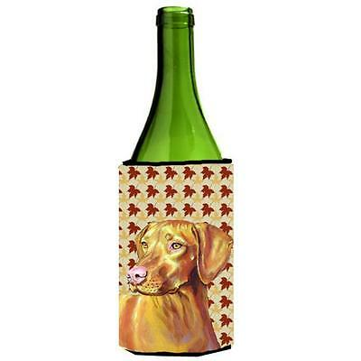Carolines Treasures LH9100LITERK Vizsla Fall Leaves Portrait Wine Bottle Hugger