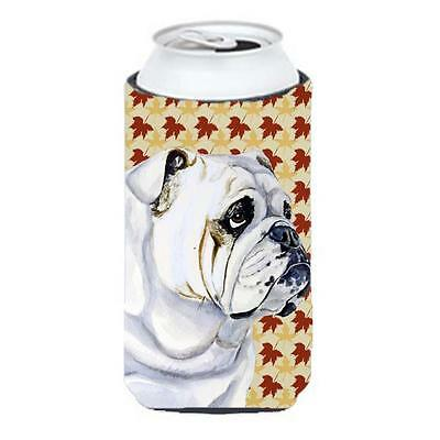 Carolines Treasures Bulldog English Fall Leaves Portrait Tall Boy Hugger