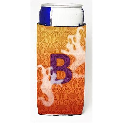 Halloween Ghosts Monogram Initial Letter B Michelob Ultra s For Slim Cans