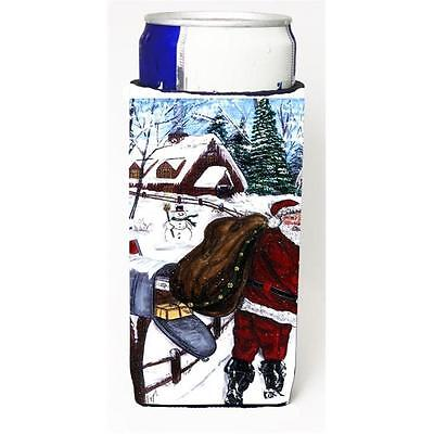 Santa Claus Delivering Packages Michelob Ultra s For Slim Cans 12 oz.