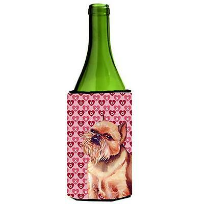 Brussels Griffon Hearts Love Valentines Day Portrait Wine Bottle Hugger 24 oz.