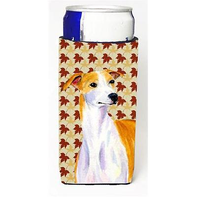 Carolines Treasures Whippet Fall Leaves Portrait Michelob Ultra s for slim cans