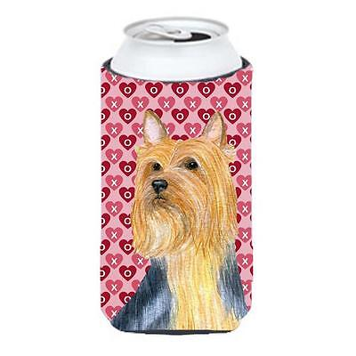 Silky Terrier Hearts Love And Valentines Day Portrait Tall Boy Hugger 22 To 2...