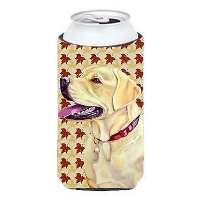 Carolines Treasures Labrador Fall Leaves Portrait Tall Boy Hugger 22 To 24 oz.