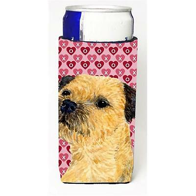 Border Terrier Hearts Love And Valentines Day Portrait Michelob Ultra s For S...