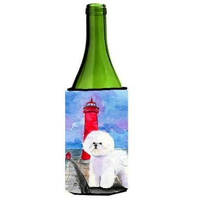 Carolines Treasures SS8891LITERK Lighthouse with Bichon Frise Wine Bottle Hugger