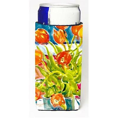Carolines Treasures 6025MUK Flowers Tulips Michelob Ultra s For Slim Cans 12 oz.