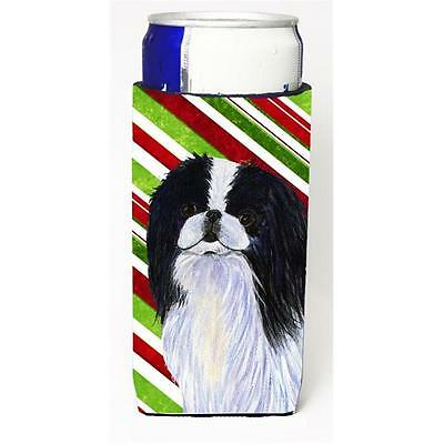 Japanese Chin Candy Cane Holiday Christmas Michelob Ultra s For Slim Cans 12 oz.