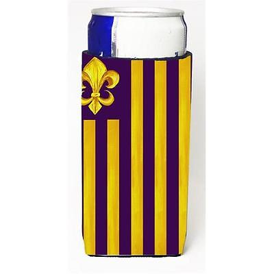 Purple And Gold Fleur De Lis Michelob Ultra s For Slim Cans 12 oz.