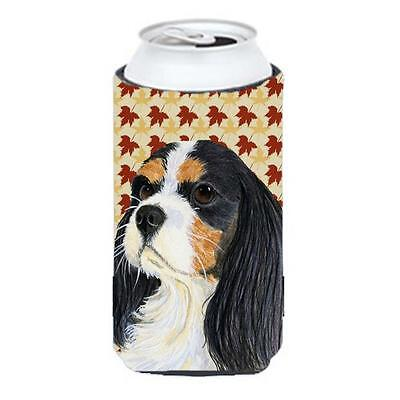 Carolines Treasures Cavalier Spaniel Fall Leaves Portrait Tall Boy Hugger