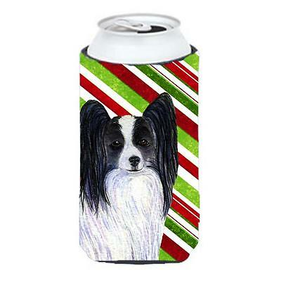 Papillon Candy Cane Holiday Christmas Tall Boy Hugger 22 To 24 oz.