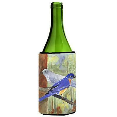 Carolines Treasures Bird Mountain Bluebird Wine Bottle Hugger 24 oz.