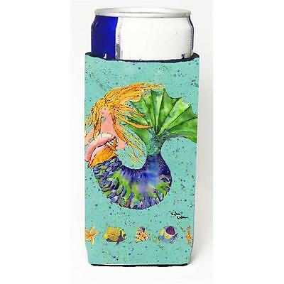Carolines Treasures Blonde Mermaid On Teal Michelob Ultra s For Slim Cans 12 oz.