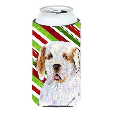 Clumber Spaniel Candy Cane Holiday Christmas Tall Boy Hugger 22 To 24 oz.