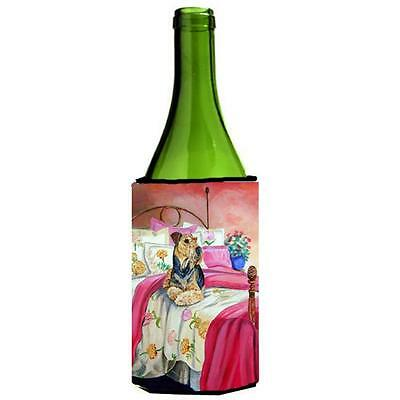 Carolines Treasures 7006LITERK Airedale Waiting On Mom Wine Bottle Hugger 24 oz.