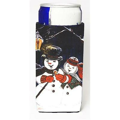 Carolines Treasures Snowman Couple Michelob Ultra s For Slim Cans 12 oz.