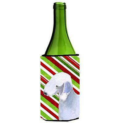 Bedlington Terrier Candy Cane Holiday Christmas Wine Bottle Hugger 24 oz.