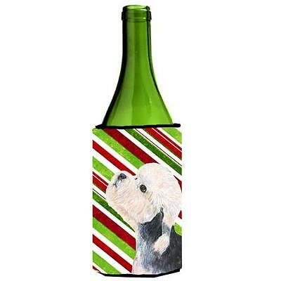 Dandie Dinmont Terrier Candy Cane Holiday Christmas Wine Bottle Hugger 24 oz.