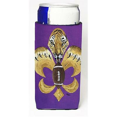Tiger Football Fleur De Lis Michelob Ultra s For Slim Cans 12 oz.