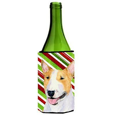 Bull Terrier Candy Cane Holiday Christmas Wine Bottle Hugger 24 oz.