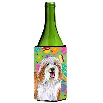 Bearded Collie Easter Eggtravaganza Wine Bottle Hugger 24 oz.