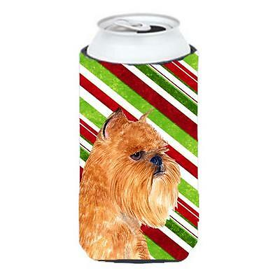Brussels Griffon Candy Cane Holiday Christmas Tall Boy Hugger 22 To 24 oz.