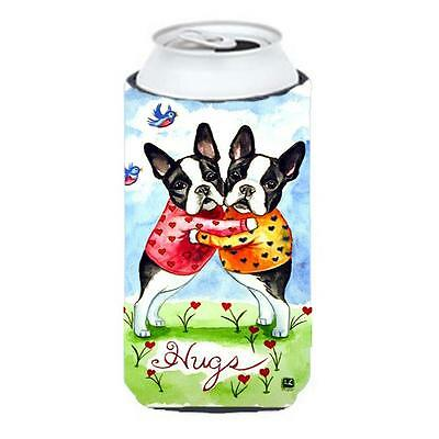 Hugs Boston Terrier Tall Boy bottle sleeve Hugger 22 To 24 oz.