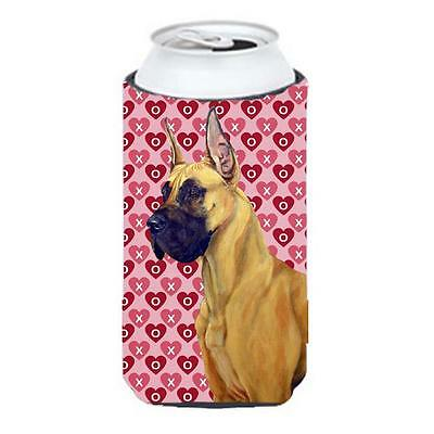 Great Dane Hearts Love And Valentines Day Portrait Tall Boy Hugger 22 To 24 oz.