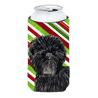 Affenpinscher Candy Cane Holiday Christmas Tall Boy Hugger 22 To 24 oz.