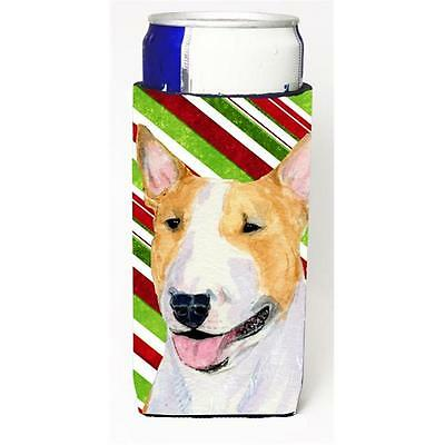 Bull Terrier Candy Cane Holiday Christmas Michelob Ultra s For Slim Cans 12 oz.