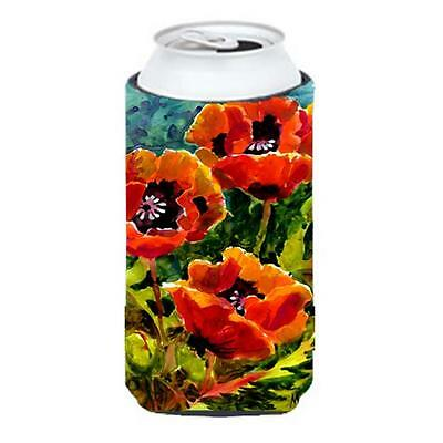 Carolines Treasures MM6009TBC Flower Poppies Tall Boy Hugger 22 To 24 oz.