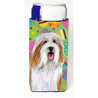 Bearded Collie Easter Eggtravaganza Michelob Ultra s For Slim Cans 12 oz.