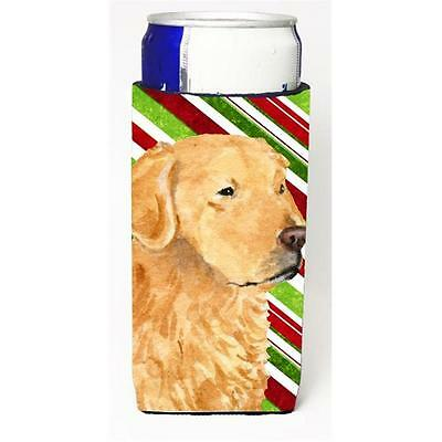 Golden Retriever Candy Cane Holiday Christmas Michelob Ultra s For Slim Cans ...