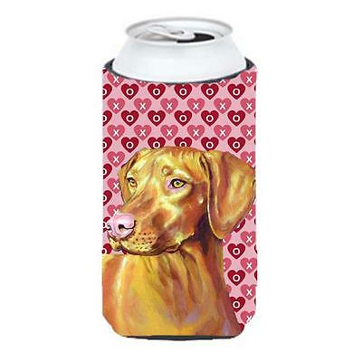 Vizsla Hearts Love And Valentines Day Portrait Tall Boy Hugger 22 To 24 oz.